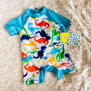 NWT - Little Me Dino Swim Body Suit SPF -Boys 6-9m